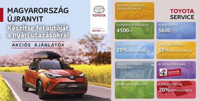 Toyota tavaszi - nyári szerviz- és tartozékajánlatok